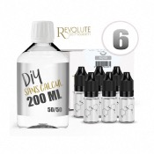 Pack DIY 6 200 ml en 50/50 Revolute